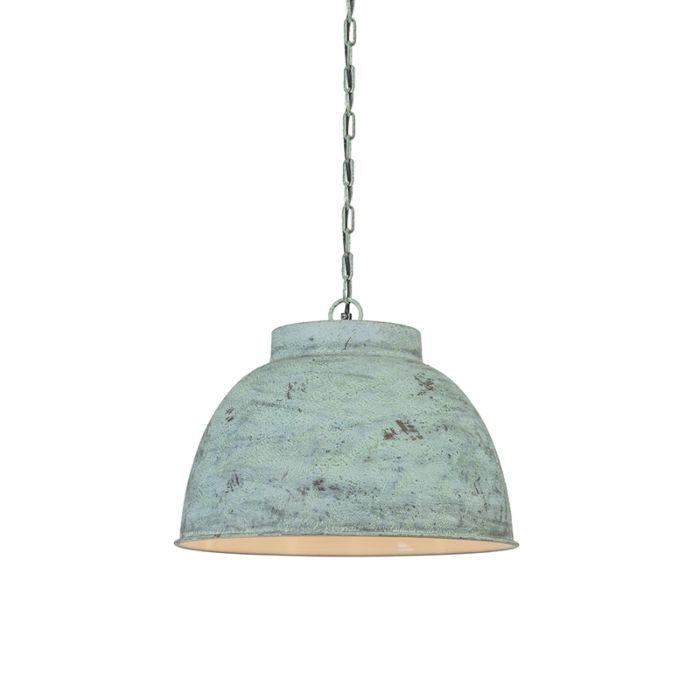 Hanglamp-Vintage-L-antiek-groen