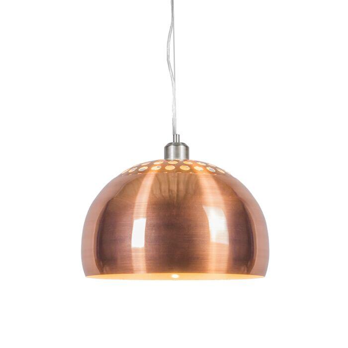 Hanglamp-Globe-33cm-mat-koper