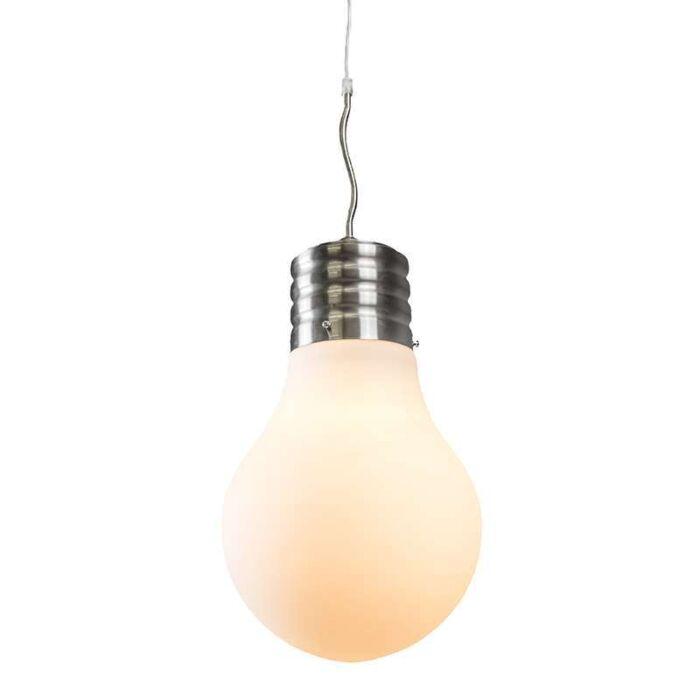 Hanglamp-Bulb-staal-met-opaal-wit-glas