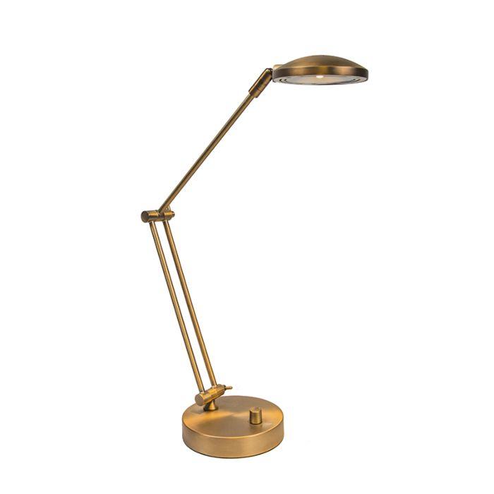 LED-bureaulamp-Trento-brons-met-dimmer
