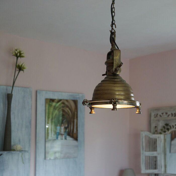 Hanglamp-Fort-Raw-S-brons-antiek
