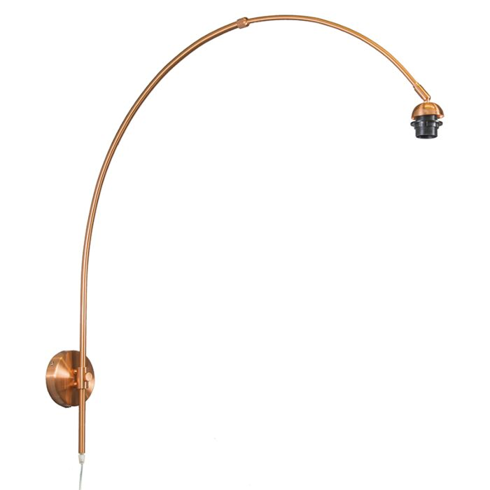 Wandlamp-Boog-mat-koper-zonder-kap