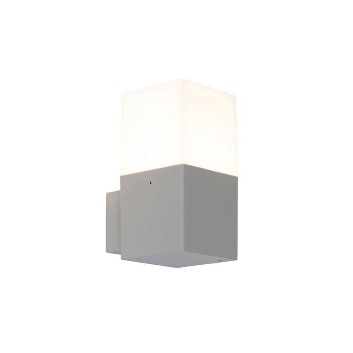 Moderne-buitenwandlamp-grijs-IP44---Denmark