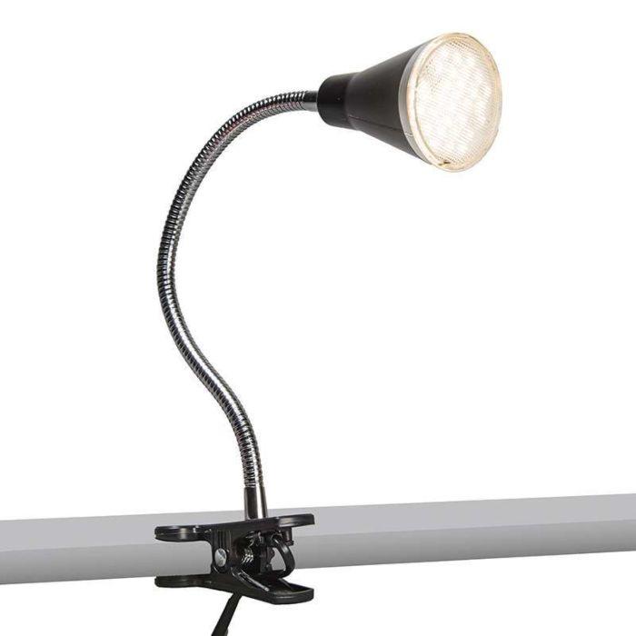 Klemlampje-Funnel-LED-zwart