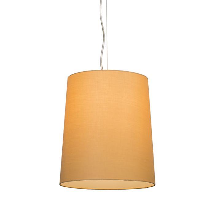 Hanglamp-Cappo-1-met-kap-beige