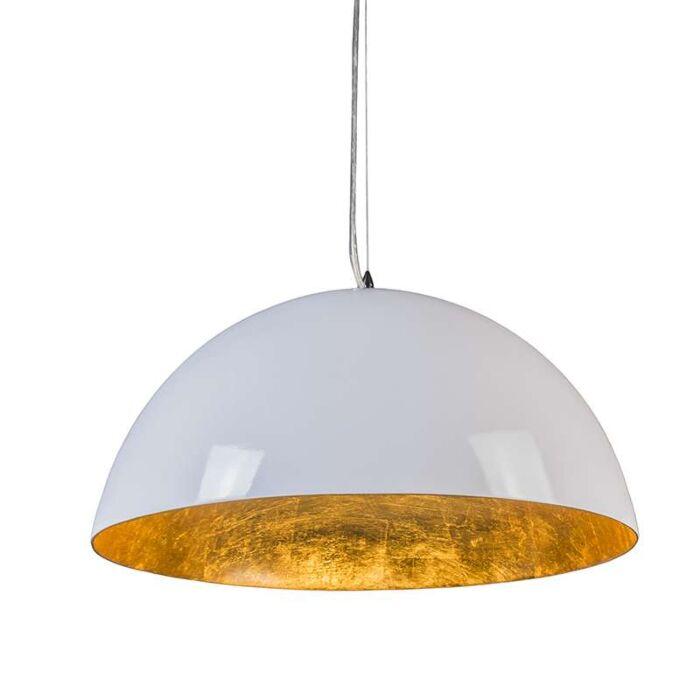 Hanglamp-Magna-Glossy-55cm-wit-met-goud