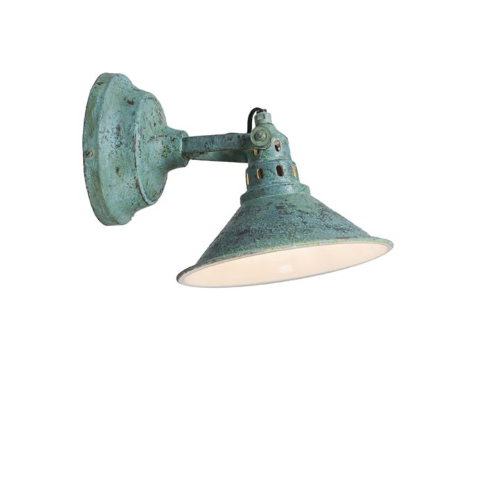 Wandlamp-Rust-antiek-groen