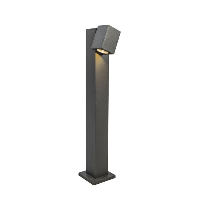 Buitenlamp-Baleno-paal-65cm-verstelbaar-donkergrijs