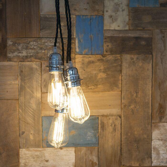 Hanglamp-Cavo-Classic-chroom-met-zwart