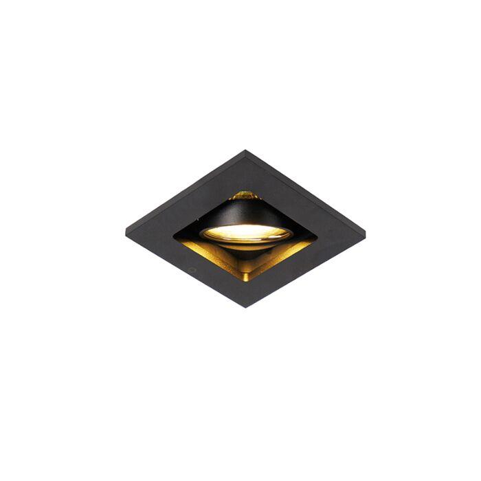 Moderne-inbouwspot-zwart-verstelbaar---Qure