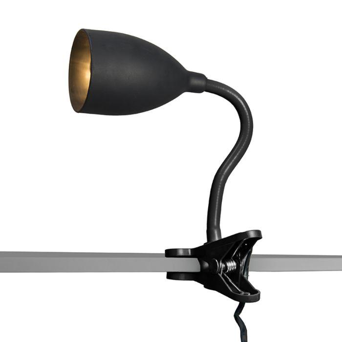 Klemlamp-Young-flex-zwart