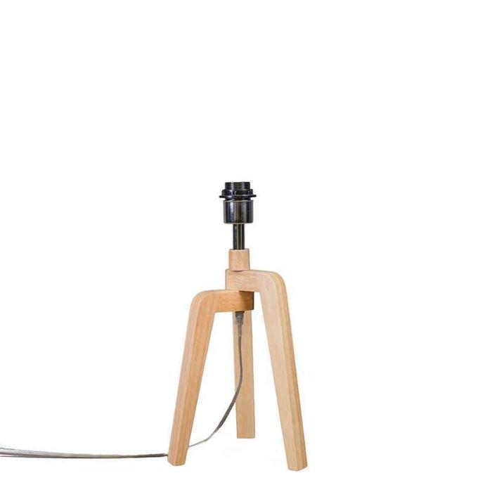 Tafellamp-Puros-hout-zonder-kap