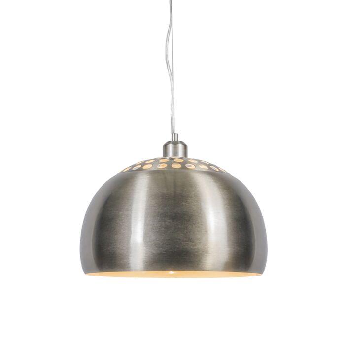 Moderne-ronde-hanglamp-staal---Globe
