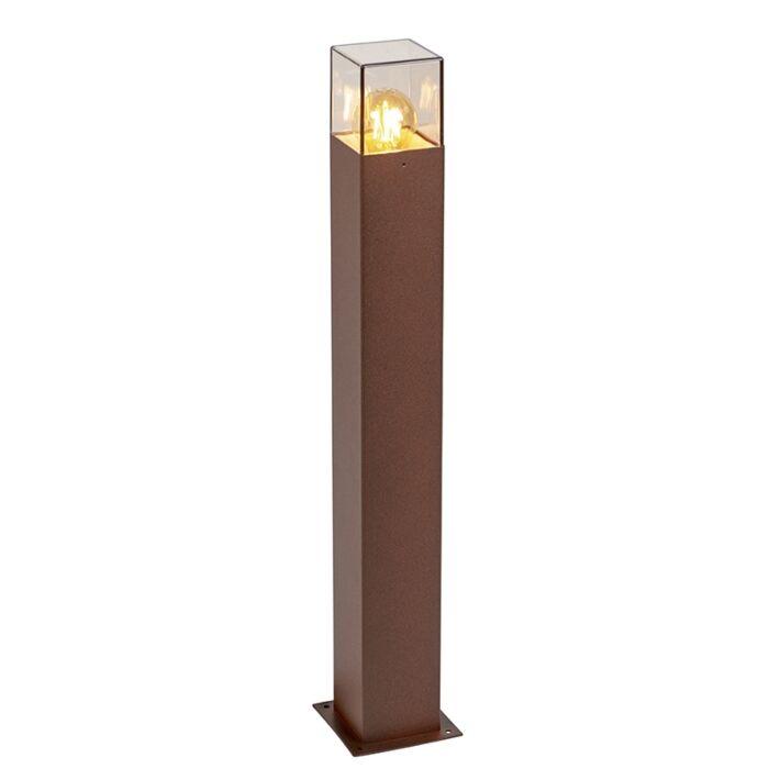 Industriële-staande-buitenlamp-70-cm-roestbruin-IP44---Denmark