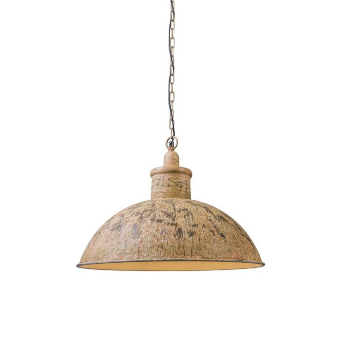 Hanglamp-Iron-II-roestig-wit