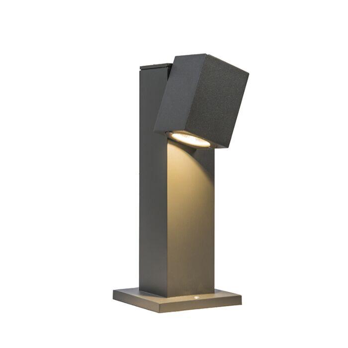 Buitenlamp-Baleno-paal-30cm-verstelbaar-donkergrijs