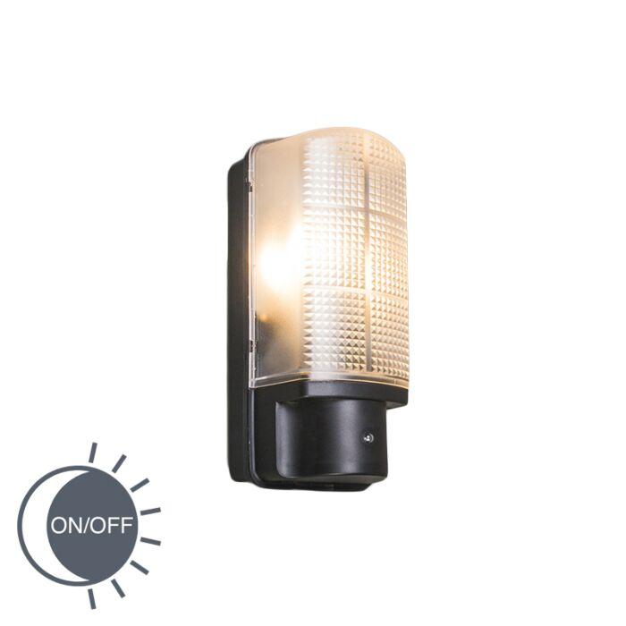 Buitenwandlamp-zwart-met-licht-donker-schakelaar-IP44---Mossa