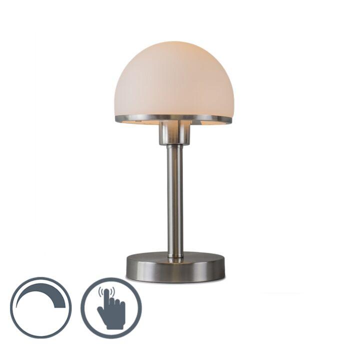 Tafellamp-Bauhaus-staal-met-Touch