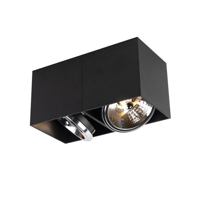 Design-spot-rechthoekig-2-lichts-zwart-incl.-2-x-G9---Box