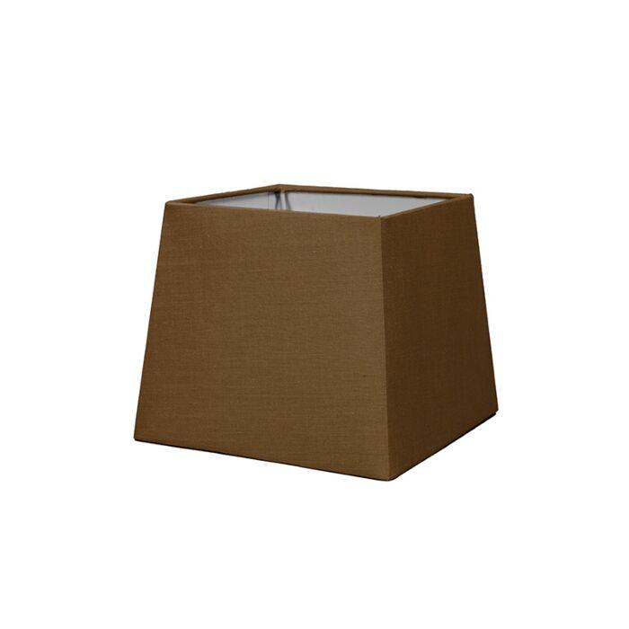 Kap-18cm-vierkant-SD-E27-bruin