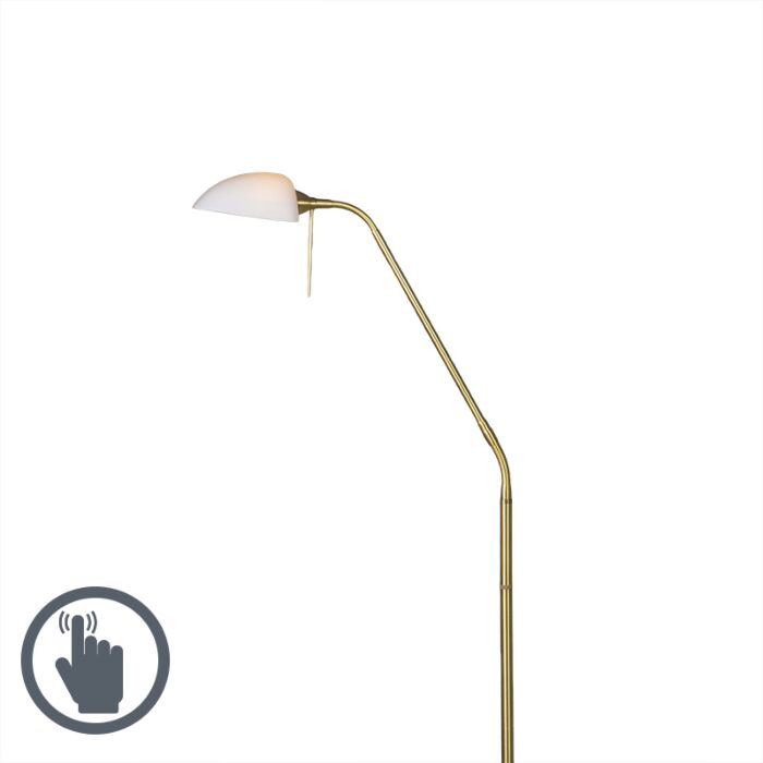 Vloerlamp-Vince-Glass-mat-goud