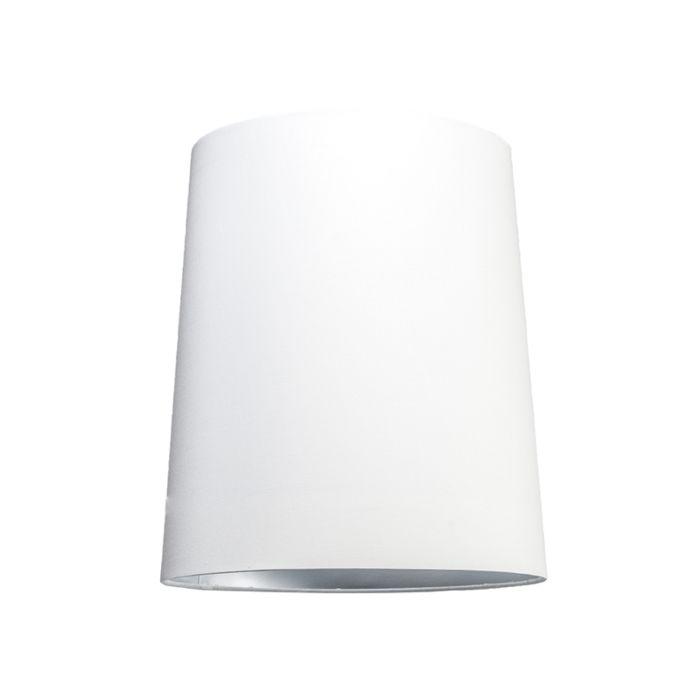 Kap-35cm-rond-SU-E27-wit-zilver