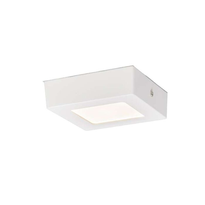 Plafonniere-Plate-6W-LED-vierkant-wit