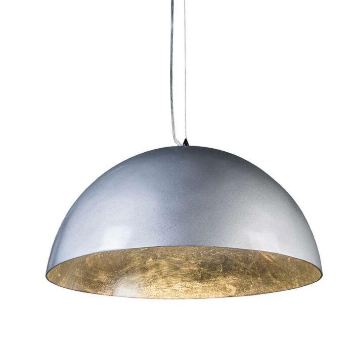 Hanglamp-Magna-Glossy-55cm-zilver-met-zilver