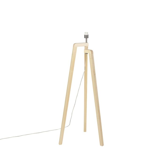 Vloerlamp-tripod-hout-zonder-kap---Puros