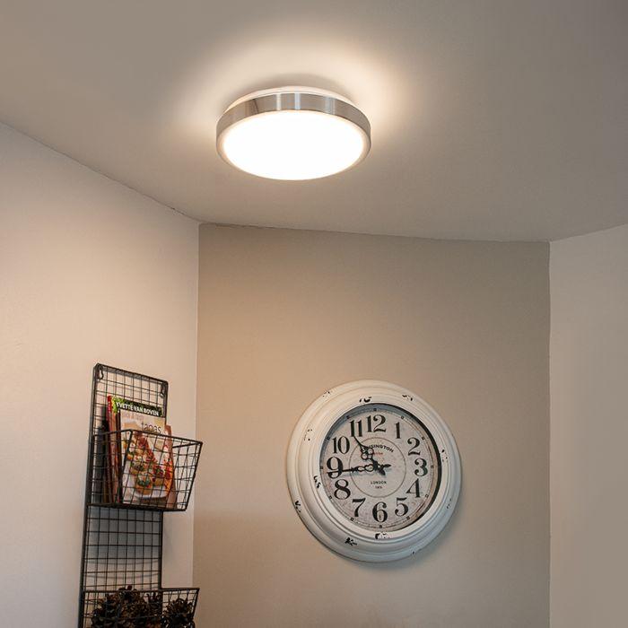 Moderne-plafonnière-aluminium-31-cm-incl.-LED-12W---Avant