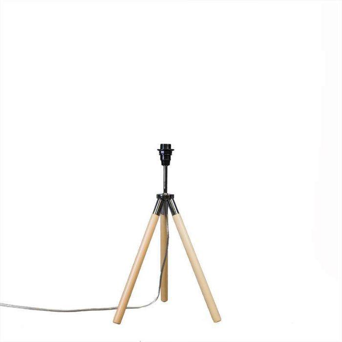 Tafellamp-Treppiede-hout-zonder-kap