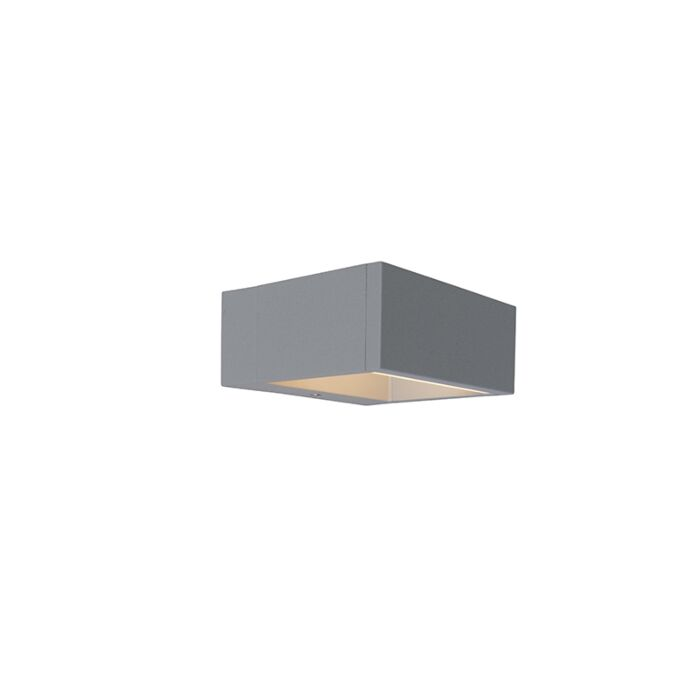 Buitenlamp-Frame-wand-LED-zilvergrijs
