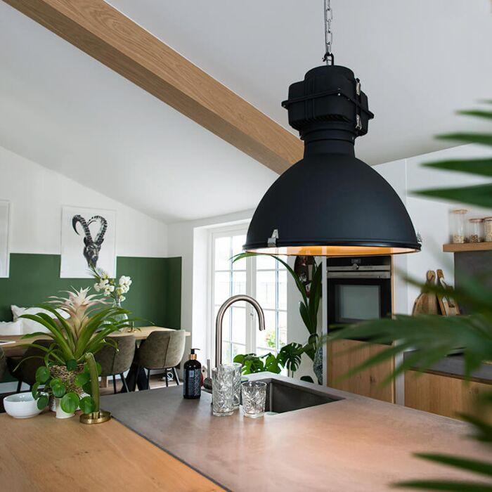 Industriële-hanglamp-zwart-53-cm---Sicko
