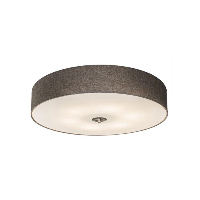 Landelijke-plafondlamp-taupe-70-cm---Drum-Jute