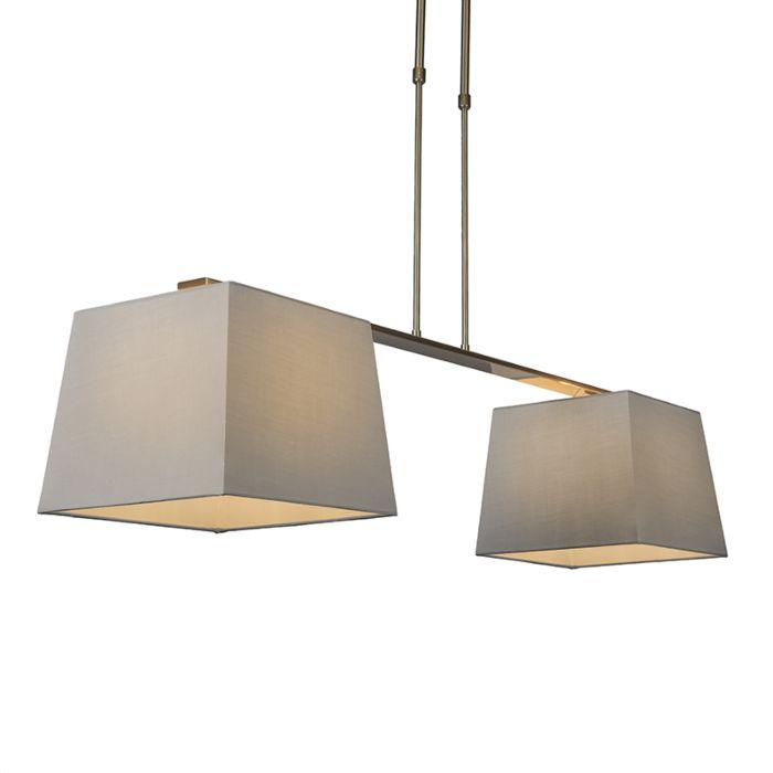 Hanglamp-Combi-Delux-2-kap-vierkant-30cm-grijs