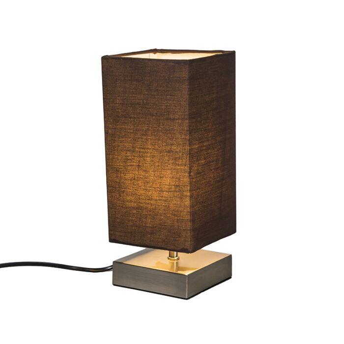 Tafellamp-Milo-vierkant-bruin