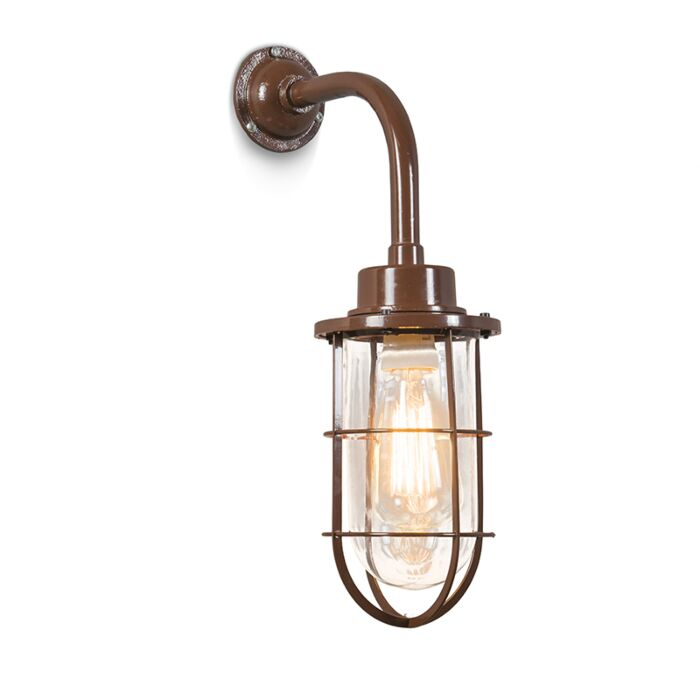 Wandlamp-Port-bruin