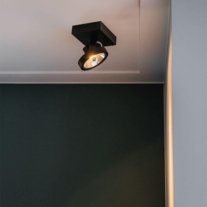 Design-spot-zwart-verstelbaar-1-lichts-incl.-1-x-G9---Go