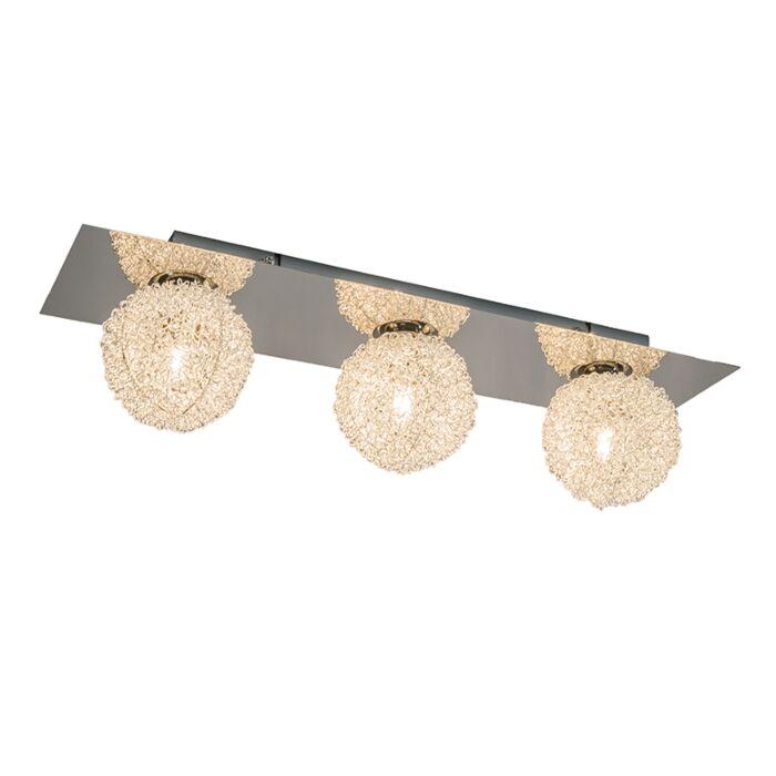 Wand/plafondlamp-Fuzzle-3-chroom