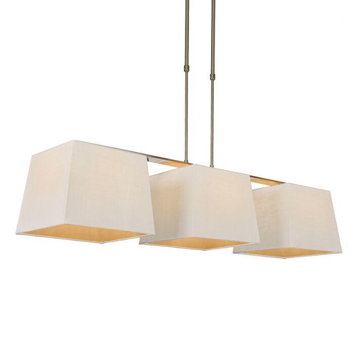 Hanglamp-Combi-Delux-3-kap-vierkant-30cm-wit
