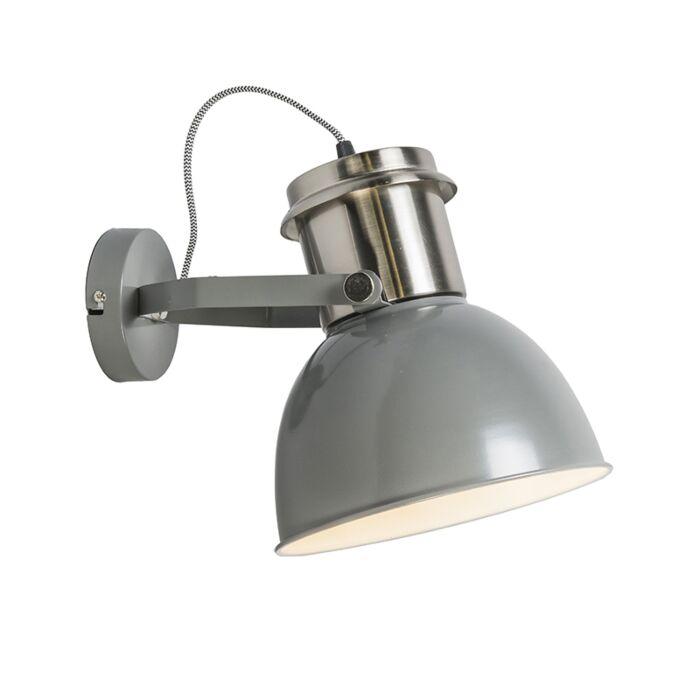 Industriële-wandlamp-grijs---Industrial
