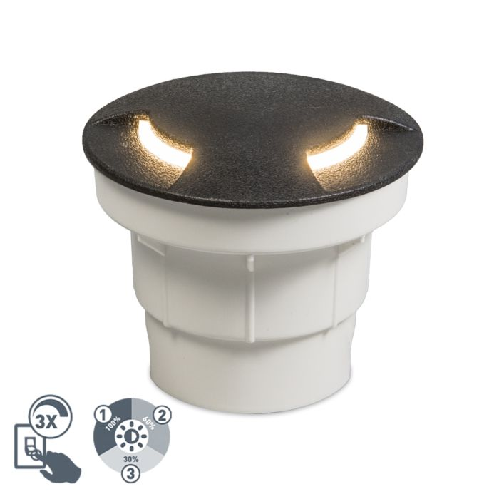 Moderne-buiten-grondspot-zwart-incl.-LED-IP67---Ceci-2