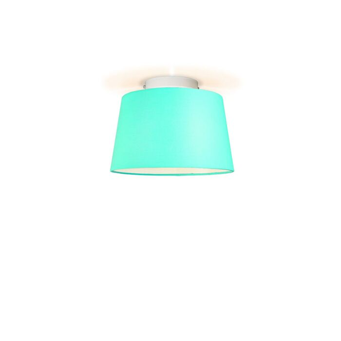 Plafonniere-Ton-rond-30-turquoise
