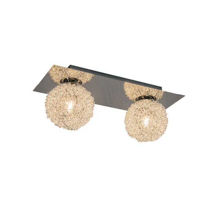 Wand/plafondlamp-Fuzzle-2-chroom