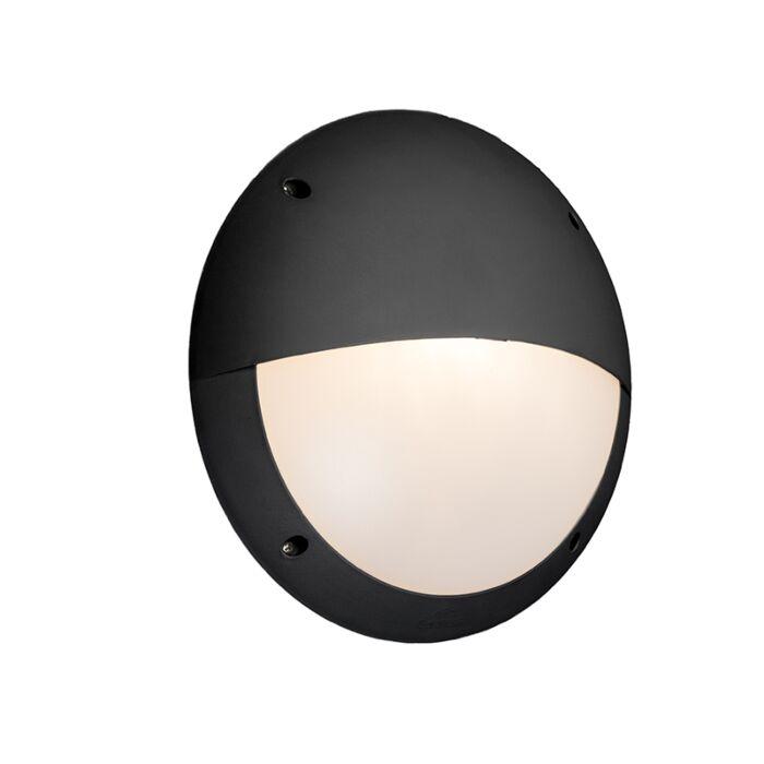 Wandlamp-zwart-IP65---Lucia