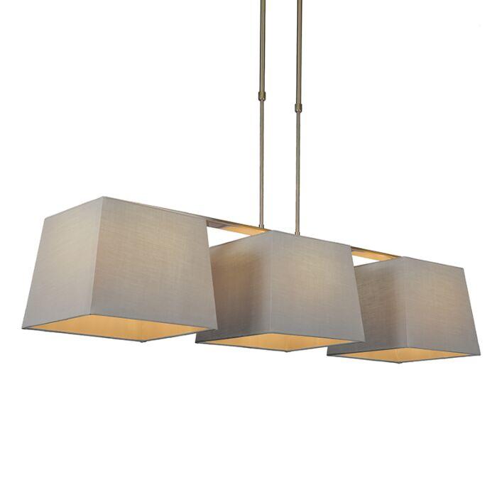 Hanglamp-Combi-Delux-3-kap-vierkant-30cm-grijs