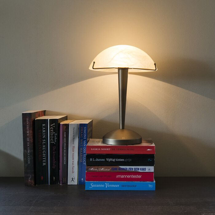 Touch-tafellamp-Boletum-brons