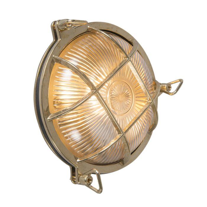 Retro-wandlamp-goud-IP44---Nautica-rond