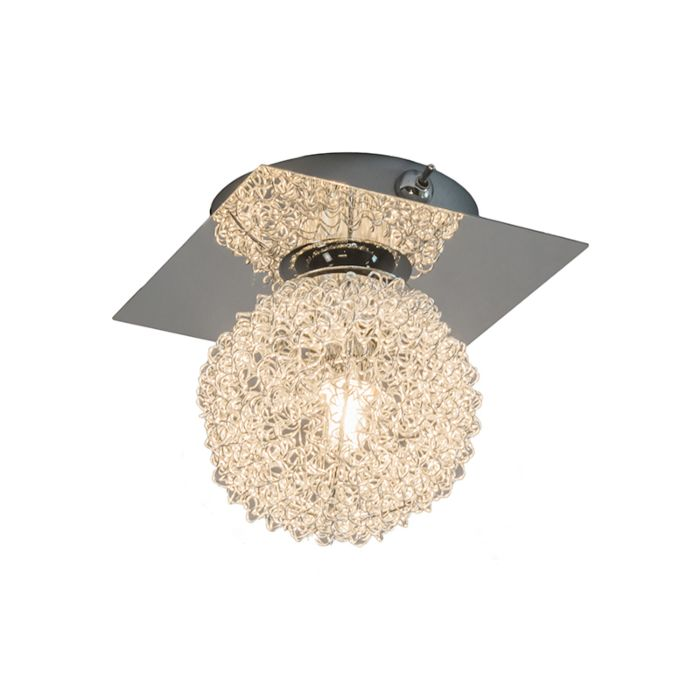 Wand/plafondlamp-Fuzzle-1-chroom