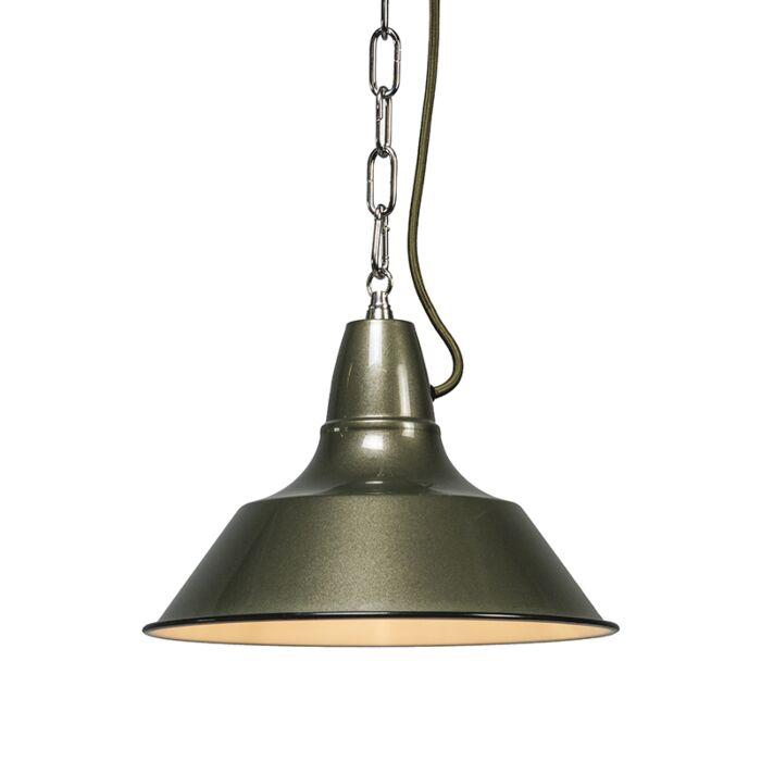 Hanglamp-Gestel-groen/grijs